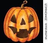 halloween pumpkin icon vector... | Shutterstock .eps vector #2044346615