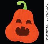 halloween pumpkin icon vector... | Shutterstock .eps vector #2044346642