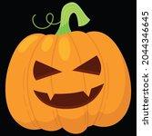 halloween pumpkin icon vector... | Shutterstock .eps vector #2044346645