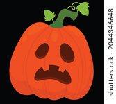halloween pumpkin icon vector... | Shutterstock .eps vector #2044346648