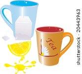 vector illustration for tea cup ... | Shutterstock .eps vector #20443963