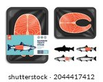 vector rainbow trout packaging... | Shutterstock .eps vector #2044417412