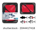 vector tuna packaging design.... | Shutterstock .eps vector #2044417418