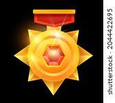 golden medal game award  vector ...