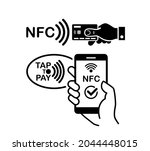 contactless wireless pay icon....   Shutterstock .eps vector #2044448015