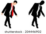 drunk businessman  vector | Shutterstock .eps vector #204446902