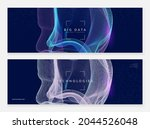 abstract digital background.... | Shutterstock .eps vector #2044526048