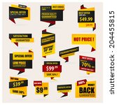 set of stickers and banners. | Shutterstock .eps vector #204455815