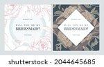 floral bridesmaid invitation... | Shutterstock .eps vector #2044645685