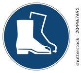mandatory action sign  wear...   Shutterstock .eps vector #204467692