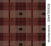 Plaid Pattern With Brown And...