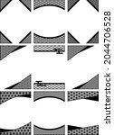 vertical frame set with... | Shutterstock .eps vector #2044706528