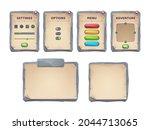 game ui scrolls  stone boards...