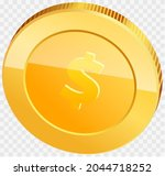 gold coin with dollar sign...   Shutterstock .eps vector #2044718252