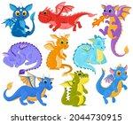 Cartoon Dragon Kids Fantasy...
