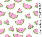 seamless pattern of cute...   Shutterstock .eps vector #2044750502