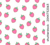 seamless pattern of cute...   Shutterstock .eps vector #2044752065