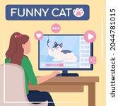 viral content social media post ... | Shutterstock .eps vector #2044781015