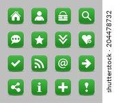 16 dark green satin icon with...