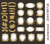 a collection of various gold... | Shutterstock . vector #2044789718