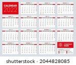 calendar 2021  calendar 2022... | Shutterstock .eps vector #2044828085