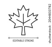 maple leaf linear icon.... | Shutterstock .eps vector #2044833782
