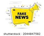 fake news text. alert megaphone ... | Shutterstock .eps vector #2044847582