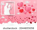 love and valentine day  lovers... | Shutterstock .eps vector #2044855058