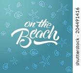 beach | Shutterstock .eps vector #204491416