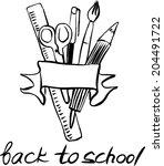 back to school letters  black...   Shutterstock .eps vector #204491722