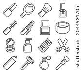 beauty and cosmetic icons set... | Shutterstock . vector #2044934705
