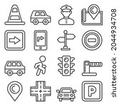 car traffic and driving icons... | Shutterstock . vector #2044934708