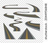 vector road way winding journey ...   Shutterstock .eps vector #2044956848