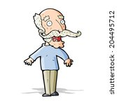cartoon old man gasping in... | Shutterstock .eps vector #204495712