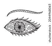 decorative pattern eye. vector... | Shutterstock .eps vector #2044968065