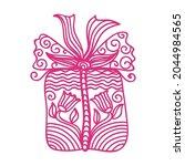 decorative pattern gift. vector ... | Shutterstock .eps vector #2044984565