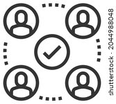 relationship line icon logo... | Shutterstock .eps vector #2044988048