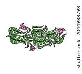 floral decorative element.... | Shutterstock .eps vector #2044988798