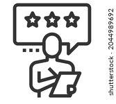 feedback line icon logo vector .... | Shutterstock .eps vector #2044989692