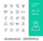 outline icons thin flat design  ... | Shutterstock .eps vector #204504412