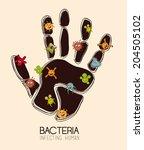 Bacteria Design Over Beige...