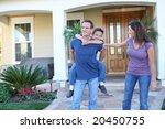 a happy family having fun...   Shutterstock . vector #20450755