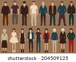 fashion vector collection of... | Shutterstock .eps vector #204509125