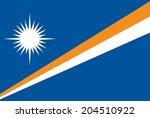 marshall islands vector flag.