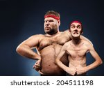 funny body builders | Shutterstock . vector #204511198