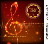 musical background with musical ... | Shutterstock .eps vector #204512875