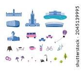 cute illustrations of poland... | Shutterstock .eps vector #2045139995