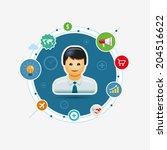 vector global business... | Shutterstock .eps vector #204516622