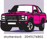 all roads vehicle  '90s pick up | Shutterstock .eps vector #2045176802