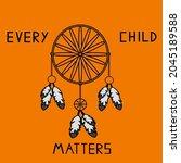 every child matters logo design.... | Shutterstock .eps vector #2045189588
